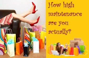 High maintenance shopping
